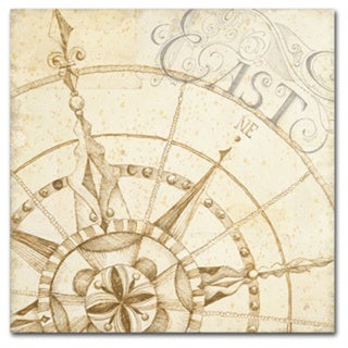 Daphne Brissonnet 'Coast to Coast Sepia III' Canvas Art