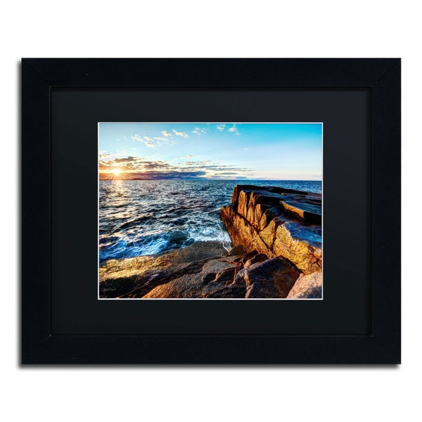 David Ayash 'Sunrise Over the Atlantic in Maine' Black Matte, Black Framed Wall Art 16034172