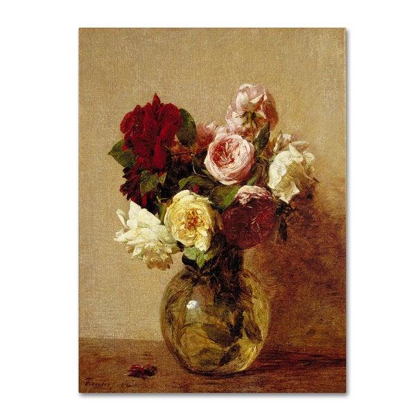 Henri Fantin Latour 'Roses 1884' Canvas Art 16034235