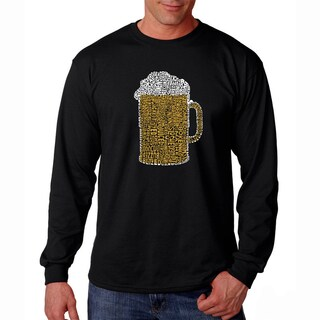 Men's Los Angeles Pop Art Beer Long Sleeve T-Shirt