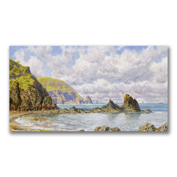 John Brett 'Forest Cove, Cardigan Bay' Canvas Art