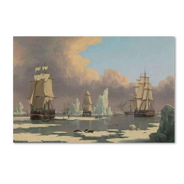 John Ward 'The Northern Whale Fishery' Canvas Art