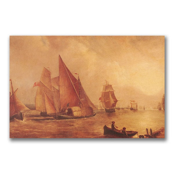 Joseph Turner 'Estuary of the Thames' Canvas Art