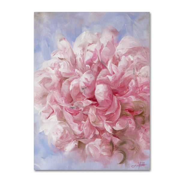 Li Bo 'Pink Peonie I' Canvas Art
