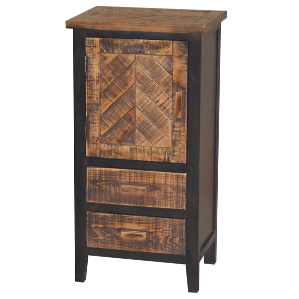 Gallerie Decor Wovenwood 1-door and 2-drawer Cabinet
