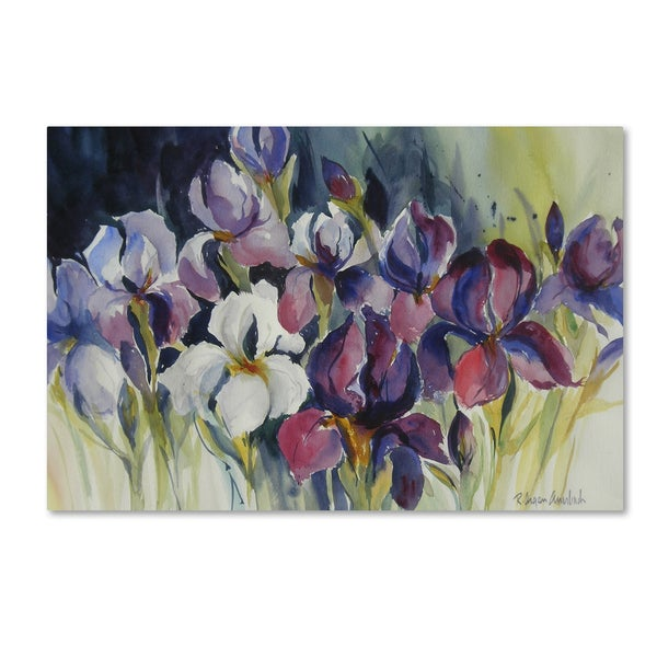 Rita Auerbach 'White Iris' Canvas Art
