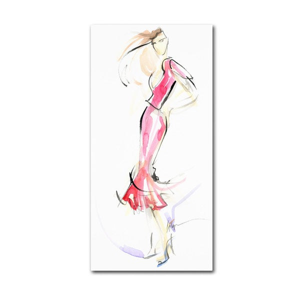 Jennifer Lilya 'Just Warming Up' Canvas Art