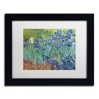 Vincent van Gogh 'Irises, 1889' White Matte, Black Framed Wall Art