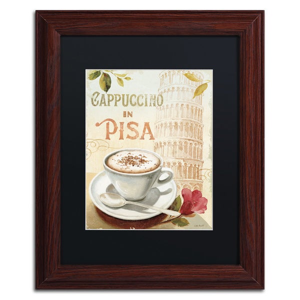 Lisa Audit 'Cafe in Europe IV' Black Matte, Wood Framed Wall Art 16035042