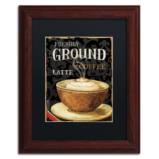 Lisa Audit 'Today's Coffee II' Black Matte, Wood Framed Wall Art