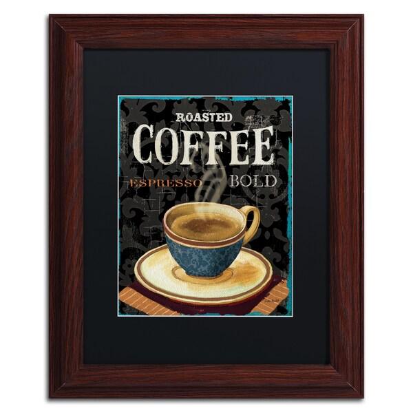Lisa Audit 'Today's Coffee IV' Black Matte, Wood Framed Wall Art 16035083