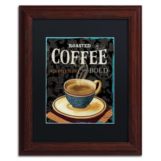 Lisa Audit 'Today's Coffee IV' Black Matte, Wood Framed Wall Art