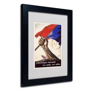 Poster for Liberation of France' White Matte, Black Framed Wall Art