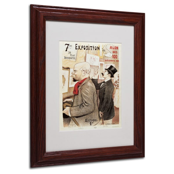 Poster of Paul Verlaine and Jean Moreas' White Matte, Wood Framed Wall Art