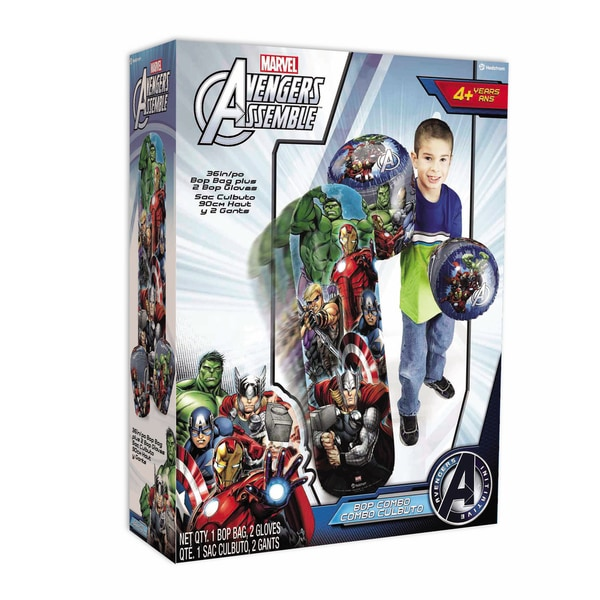 Marvel Avengers 36-inch Bop Bag and Gloves