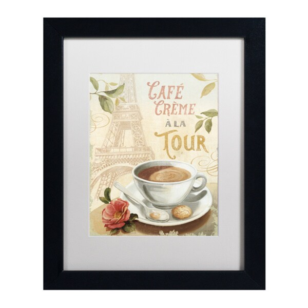 Lisa Audit 'Cafe in Europe II' White Matte, Black Framed Wall Art 16035198