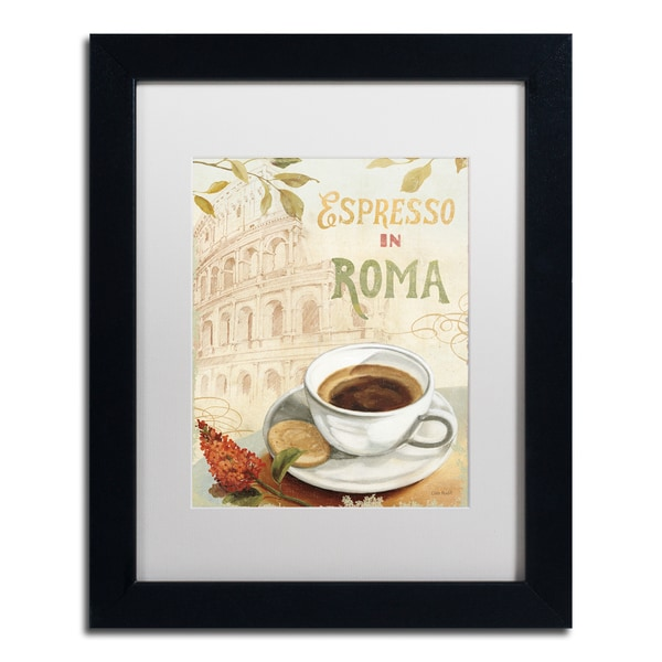 Lisa Audit 'Cafe in Europe III' White Matte, Black Framed Wall Art 16035203