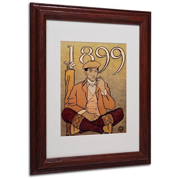 Edward Penfield 'Golf Calendar 1899' White Matte, Wood Framed Wall Art