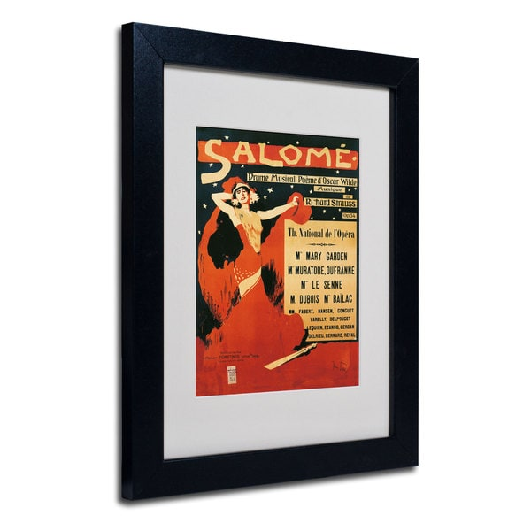 Richard Strauss 'Poster of Opera Salome' White Matte, Black Framed Wall Art