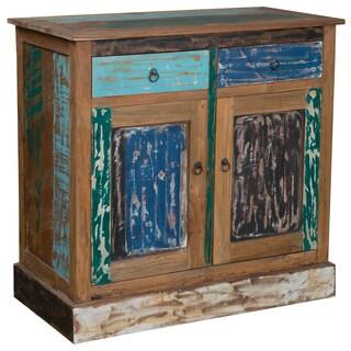 Cokedale Rustic Multi-color Reclaimed Teak Sideboard
