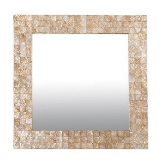 Courtland Square Mirror Accented with Capiz Shells