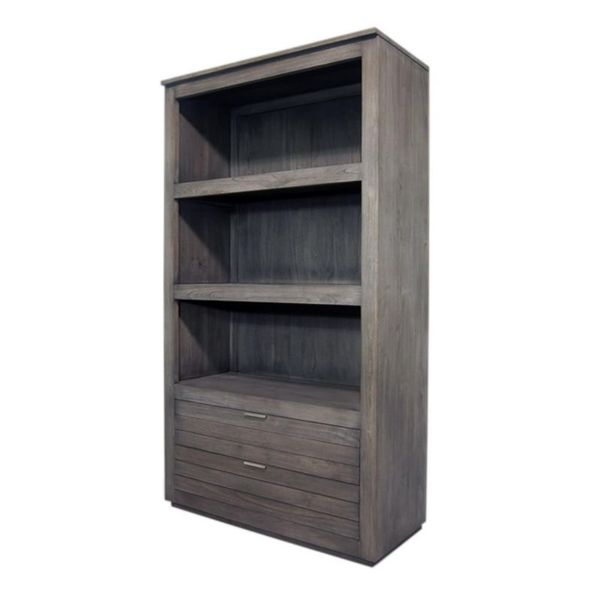 Crowley Rustic Grey Wash Display Cabinet - Overstock Shopping - Great Deals on Crafted Home ...