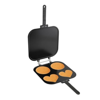 As Seen On TV 2 Circle & 2 Heart Pancake Pan