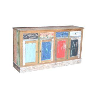 Dolores Rustic Multi-color Reclaimed Teak Sideboard