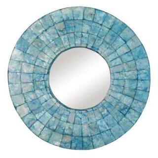 Hermiston Round Turquoise Mirror