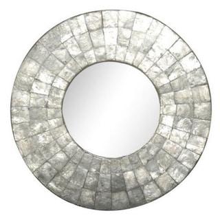 Klamath Small Round Silver Mirror