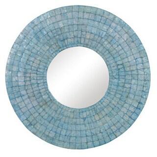 Milwaukie Large Round Turquoise Mirror