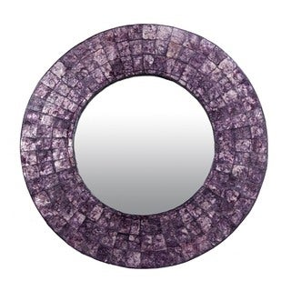 Newberg Medium Round Purple Mirror