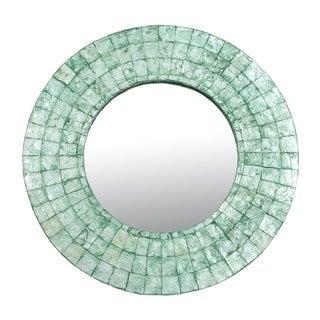 Oswego Medium Emerald Green Round Mirror