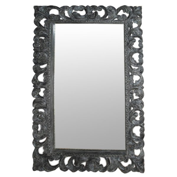 Sheridan Grey Wash Wooden Accent Mirror