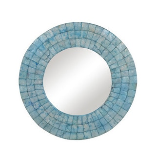 Sherwood Medium Round Turquoise Mirror