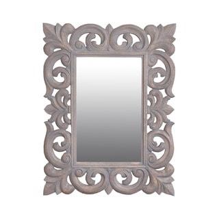 Toledo 31-inch Grey Rectangular Vintage Accent Mirror