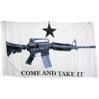 3x5 Super Polyester M4 Carbine Come & Take it Flag indoor Outdoor