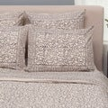 Set of 2 Taupe Chain Pillow Standard Shams (India)