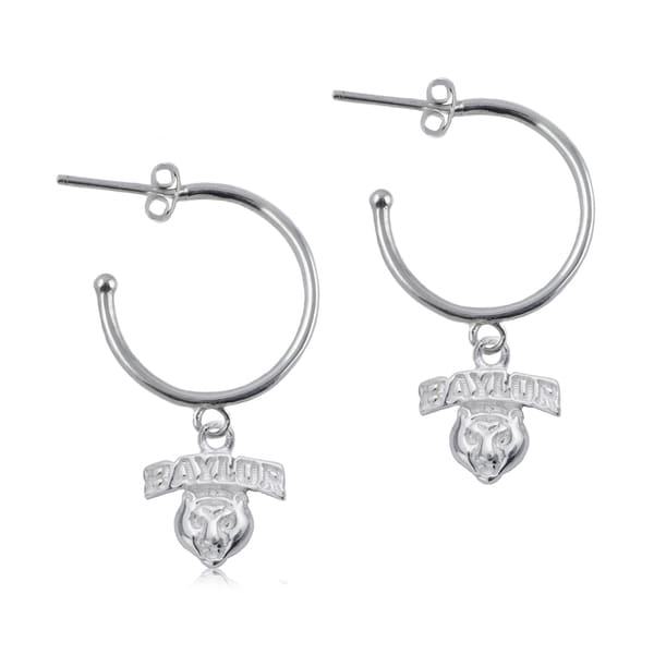 Baylor Sterling Silver Hoop Earrings