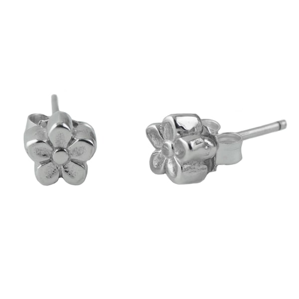 Sterling Silver Mini Daisy Flower Post Earrings