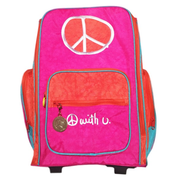 Biglove Peace Rolling Backpack