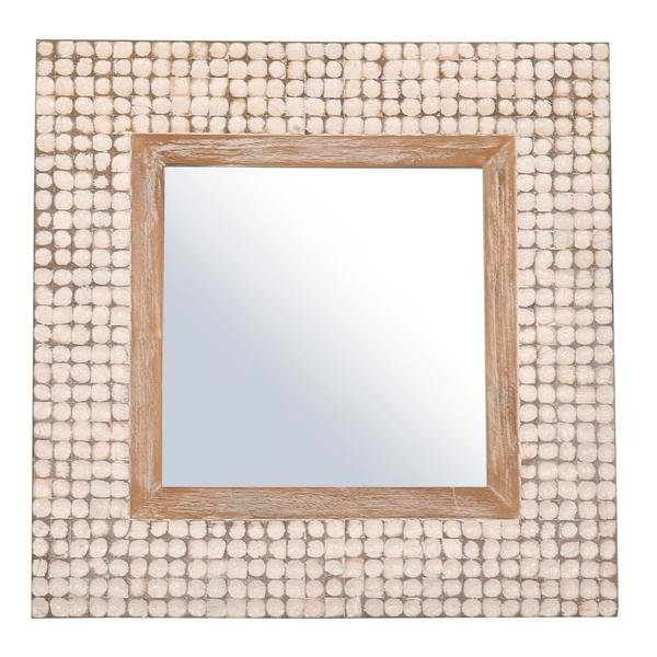 Yonkers White Square Accent Mirror