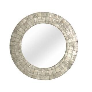 Wilsonville Medium Round Silver Mirror