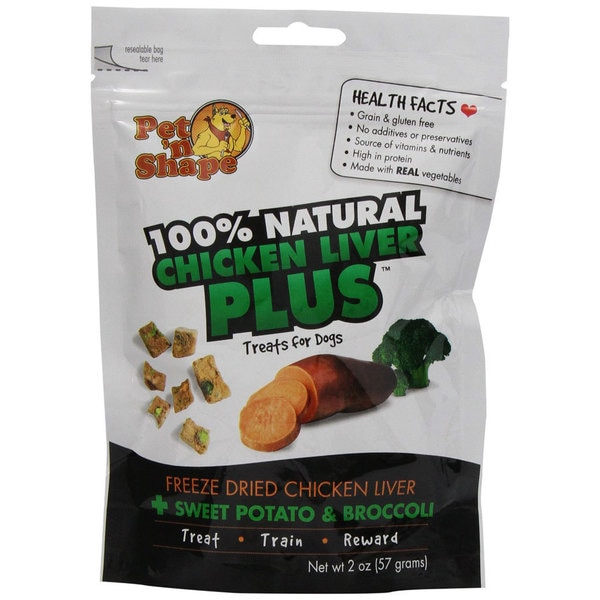 Pet 'n Shape Freeze-dried Chicken Liver Plus Sweet Potato and Broccoli Treats