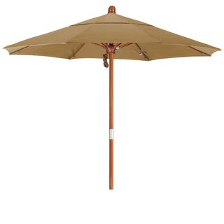 Somette 7.5-Foot Market Umbrella with Marenti Wood Frame and Pacifica Fabric