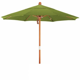 Somette 7.5-Foot Market Umbrella with Marenti Wood Frame and Sunbrella Fabric