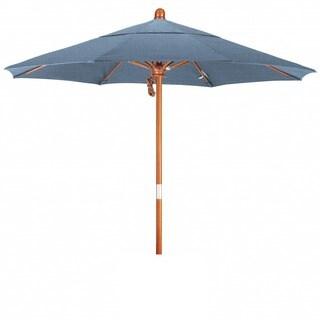 Somette 7.5-Foot Market Umbrella with Marenti Wood Frame and Sunbrella Fabric