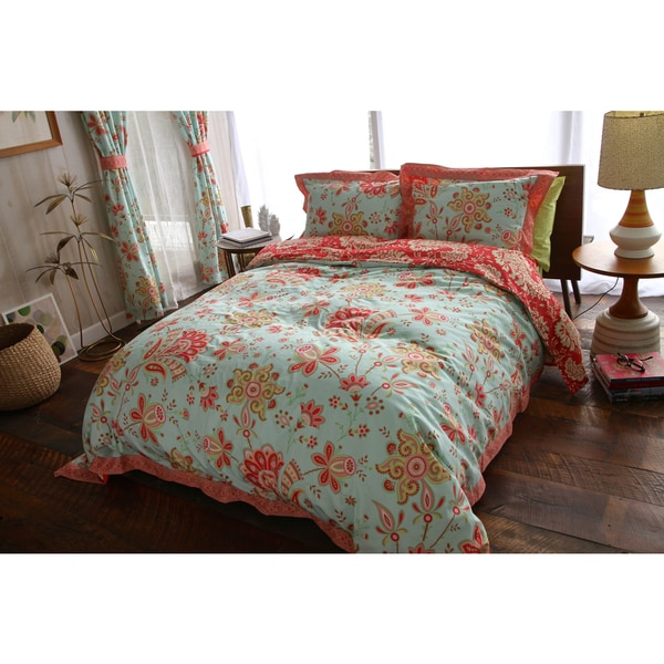 Amy Butler's Welspun Sari Bloom 3-piece Organic Cotton Comforter Set