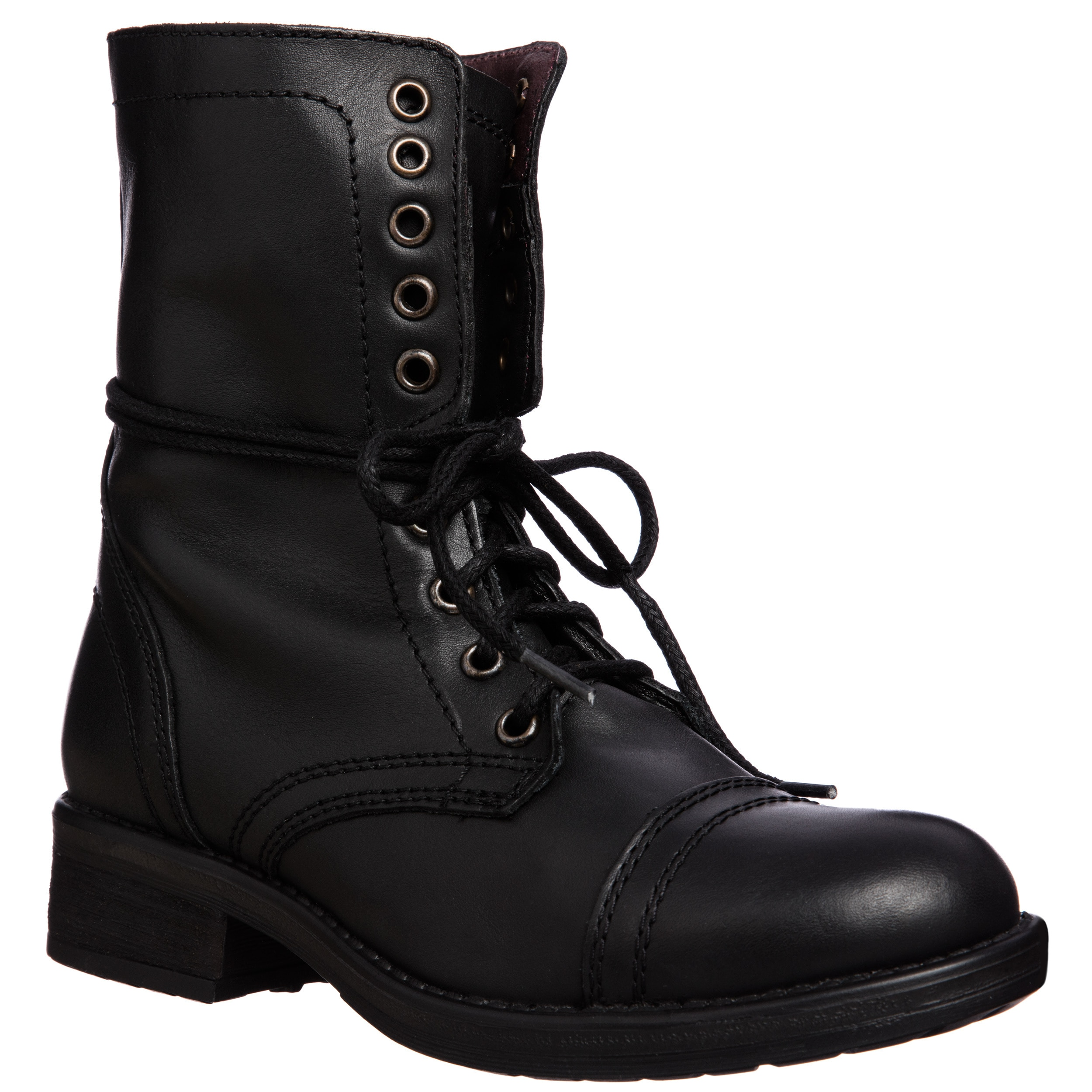 Tropa2 Steve Madden Women's Lace up Combat Boot | eBay