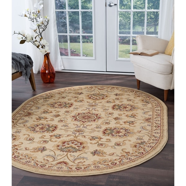 "Soho Traditional Oriental Area Rug (5'3"" x 7'3"" Oval) 16036530"